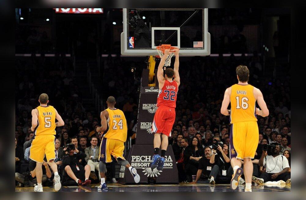 Kohtumine Clippers-Lakers, NBA, korvpall