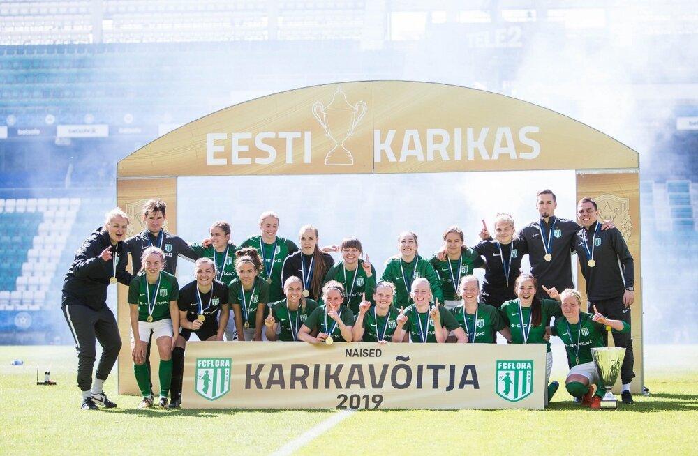 Naiste karikafinaalis võidutses FC Flora