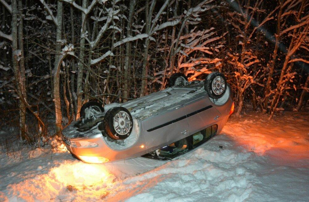 Libe tee võib auto üle katuse keerata