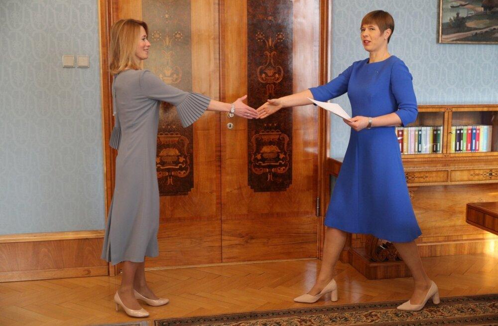 DELFI FOTOD: President Kaljulaid tegi Kaja Kallasele ettepaneku valitsuse moodustamiseks