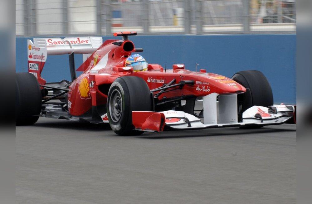 Valencia etapi teise vabatreeningu võitis Fernando Alonso