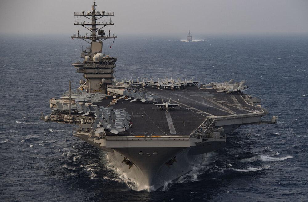 USA saatis pingete najal lennukikandja Pärsia lahte