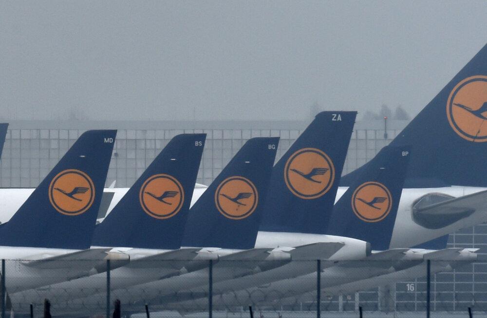 Lufthansa streik puudutas rohkem kui 350 000 reisijat