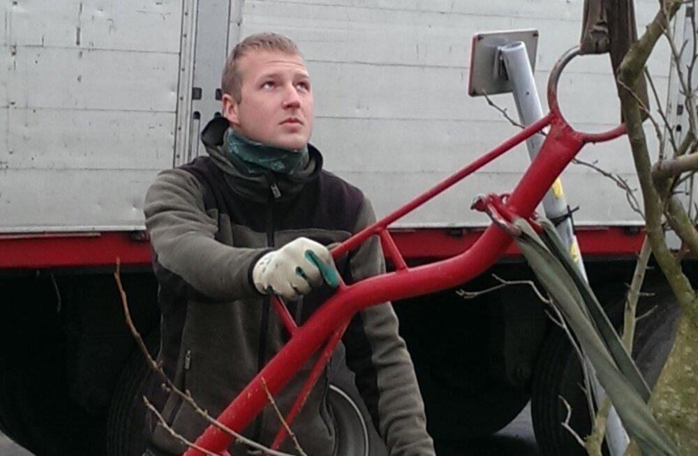 Eesti noormees omandab maastikuehituse kutset Eestis ja Belgias korraga