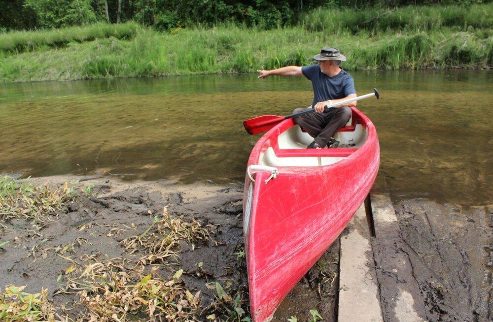Ahja jõel kanuumatkadega halvasti