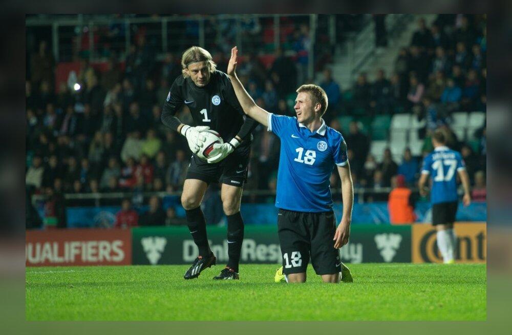 Eesti versus Inglismaa. Jalgpall