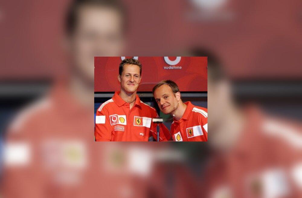 Michael Schumacher ja Rubens Barrichello Austraalia GP-l