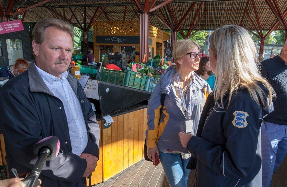 PMA peadirektor Egon Palts osaleb ka reididel, näiteks käis ta suvel Balti jaama turul.
