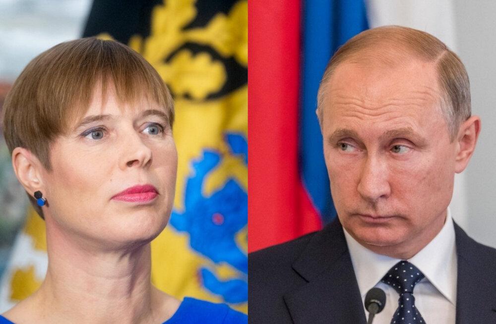 Эстония запросила встречу Кальюлайд с Путиным в Москве 18 апреля