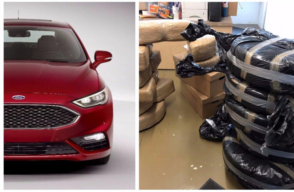 USA võimud segaduses: tuttuutest Ford Fusionitest avastatakse kopsakaid kanepikoguseid