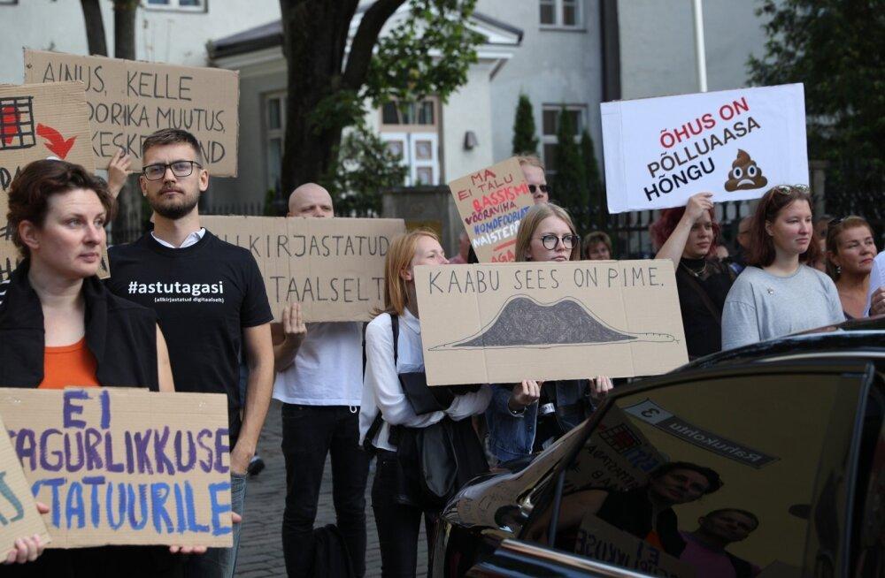Euroopa liiduga liitumise referendumipäev toob Tallinnasse vastandlikud meeleavaldused