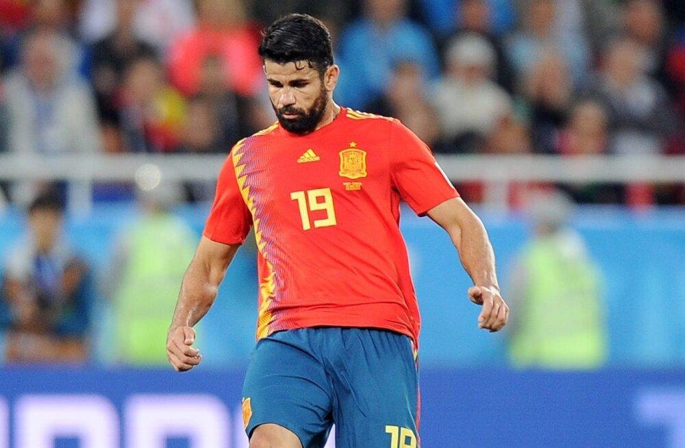 Hispaania rünnakuid veab võimsa tipuründajana Diego Costa.