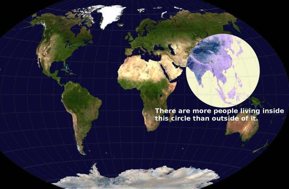 Suurem osa inimestest elab selles ringis, mida pildil näed
