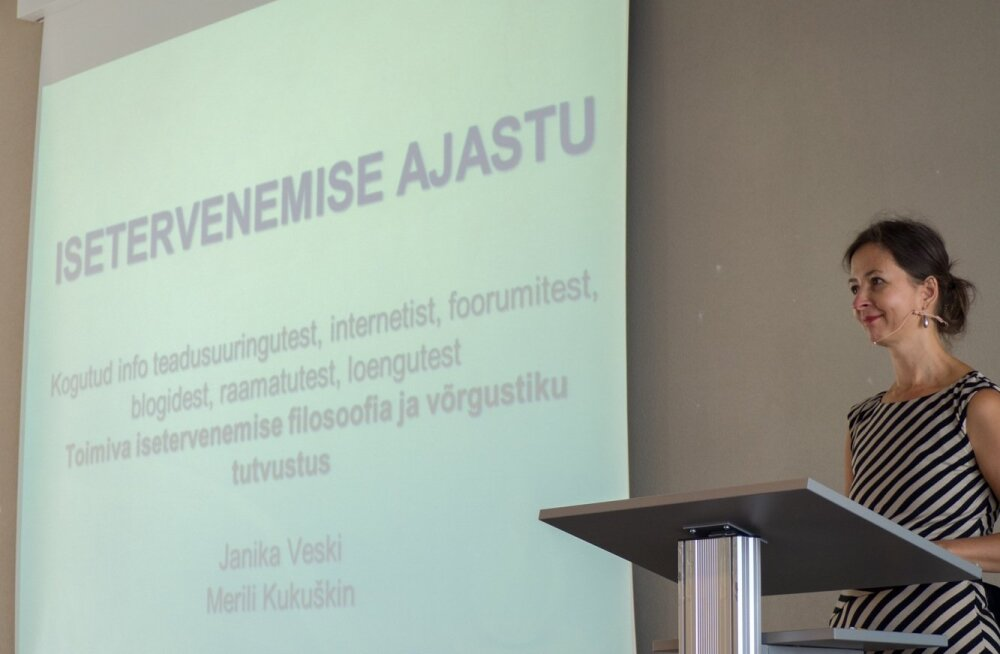 Janika Veski 2015. aastal, kui MMS polnud veel paljastatud ja ettekandeid peeti suurtes saalides.
