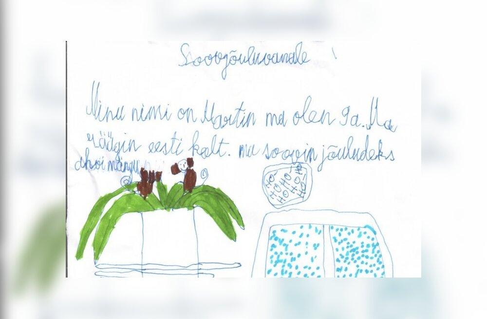 SEB on oma jõulusoovide puule kokku kogunud Eestimaa turva- ja asenduskodudes elavate laste jõuluvanale saadetud unistused ja soovid.