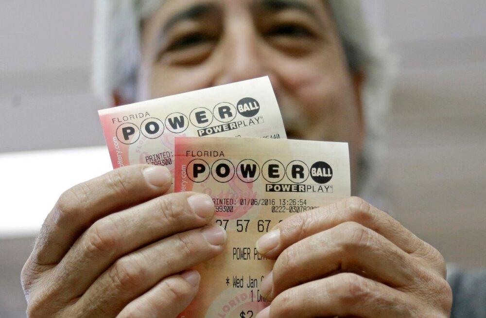 Powerballi loterii ennustatav <em>jackpot</em> kasvas 1,3 miljardi dollarini