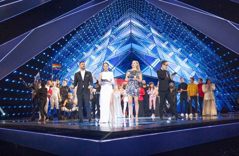 Eurovision 2019 1 poolfinaal fännid ja võitjad laval