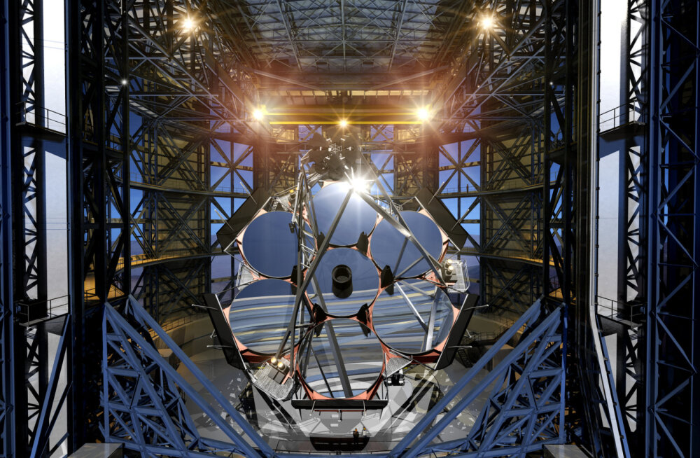 Tšiilisse kerkib hiigelteleskoop, mille iga peegel on umbes paarikorruselise maja kõrgune