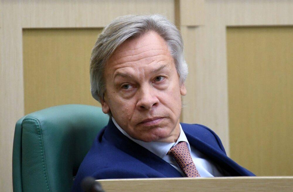 """Vene föderatsiooninõukogu liige Puškov: Eesti võimud peaksid jälgima end """"kaitsvaid"""" NATO lennukeid, mitte Vene õhujõude"""