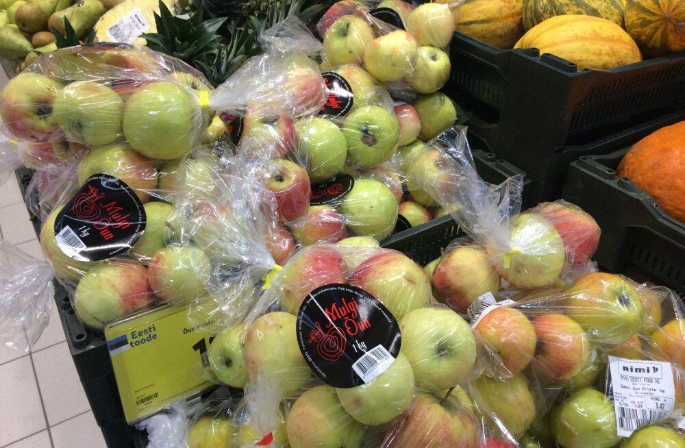 """Esmalt kadusid poest """"Kuldreneti"""" sildiga õunad, nüüd on asemel teise kirjaga õunakott, kus samuti pole sorti peal. Õunadki on varasemast teistsugused, välimuselt punasemad, väiksemad ning hapukad."""