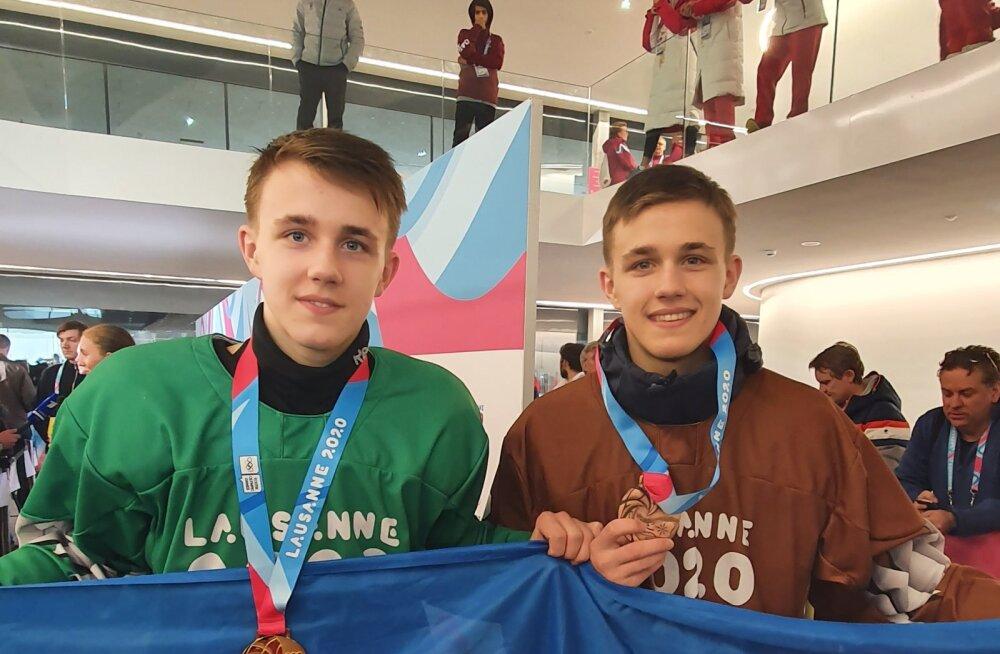 Eesti jäähokikaksikud tegid noorte olümpial ajalugu