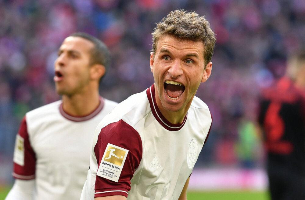 Järjekordse võidu noppinud Müncheni Bayern kindlustas liidrikohta