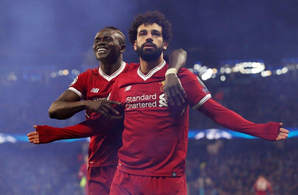 Liverpooli suurepärase mängupildi väravateks vormimine on peamiselt Sadio Mané (vasakul) ja Mohamed Salah' töö.