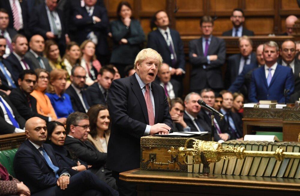 Boris Johnson Briti parlamendis