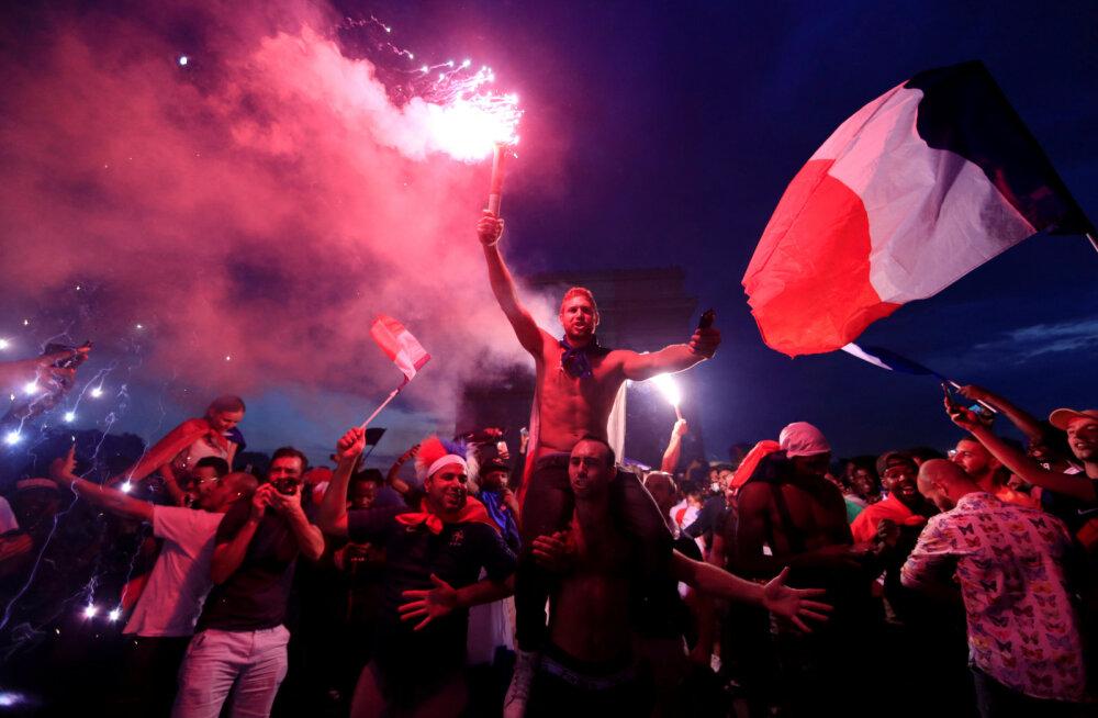 Pidustused võtsid kurva pöörde: Prantsusmaa tiitlitähistuste jooksul sai kaks inimest surma