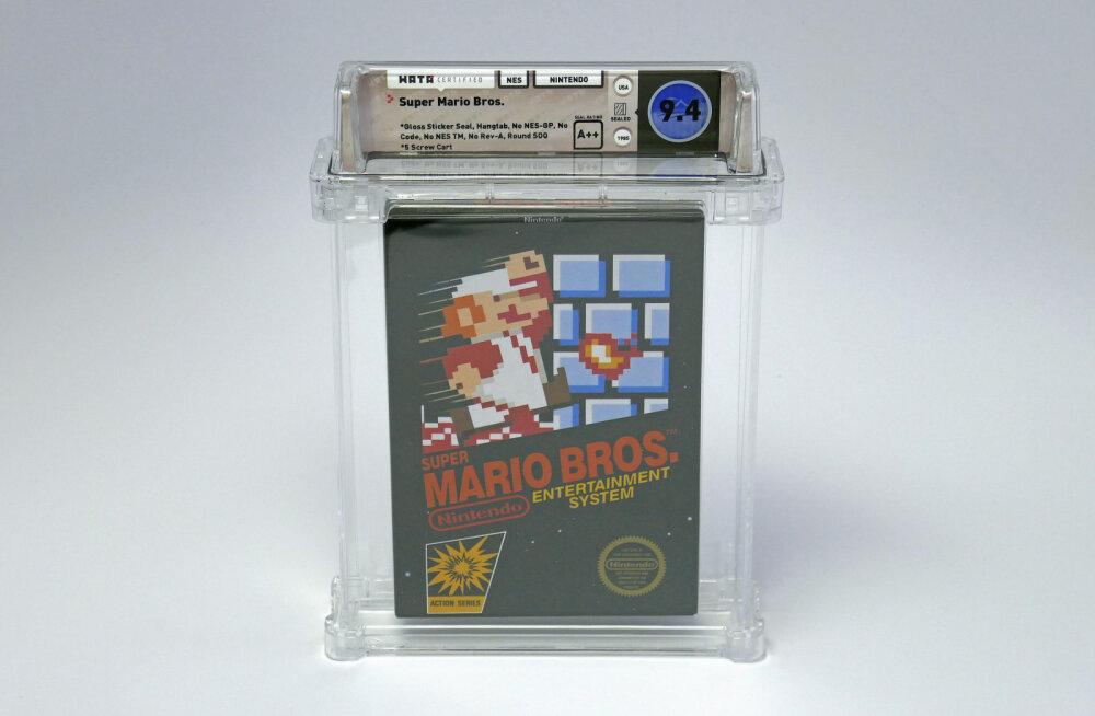 Suurepärases seisukorras Super Mario mängukasseti eest käidi välja rekordiline hulk raha