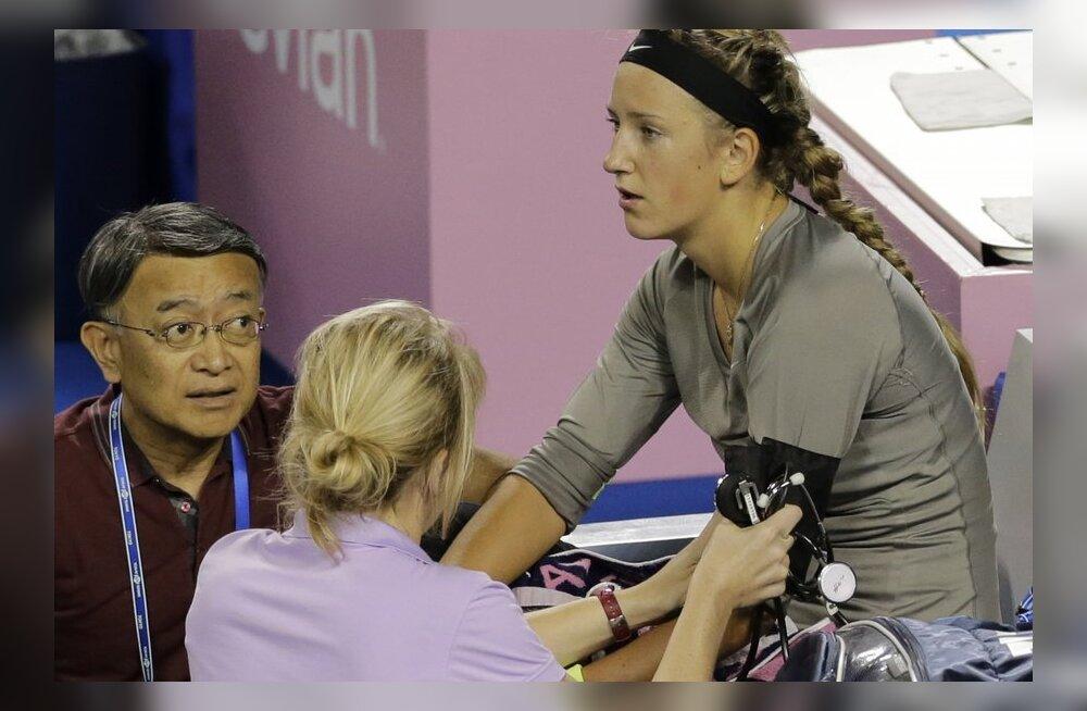 Victoria Azarenka jättis Tokyo turniiri tervislikel põhjustel pooleli, tennis