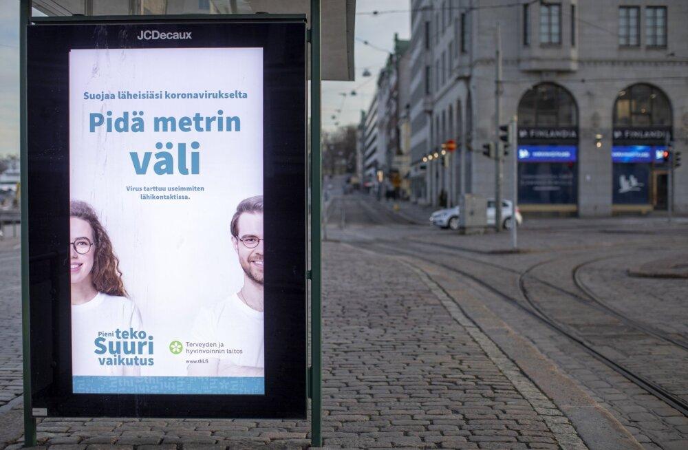 Välimeedia reklaamid kutsuvad Helsingis üles eraldatusele.