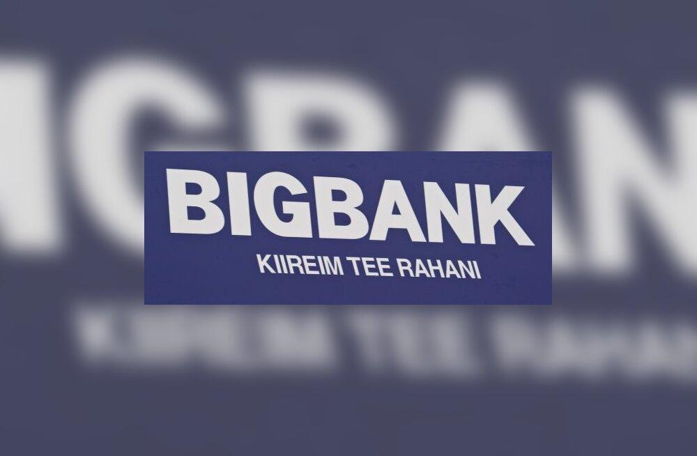 BIGBANK teenis jaanuarist juulini 70 miljonit krooni