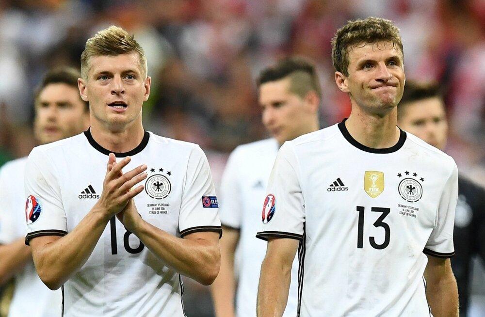 Saksamaa koondise liidrite sekka kuuluvad Toni Kroosi ja Thomas Müller.
