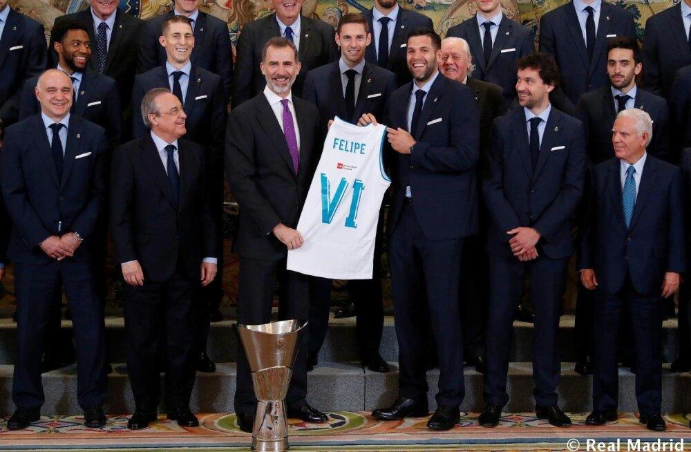 Madridi Reali korvpallimeeskond Hispaania kuninga vastuvõtul