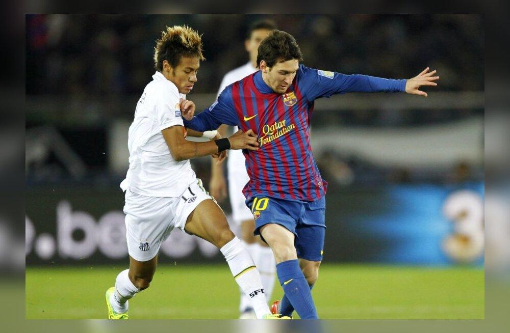 Neymar üritab klubide MM´i finaalis peatada Lionel Messit, jalgpall