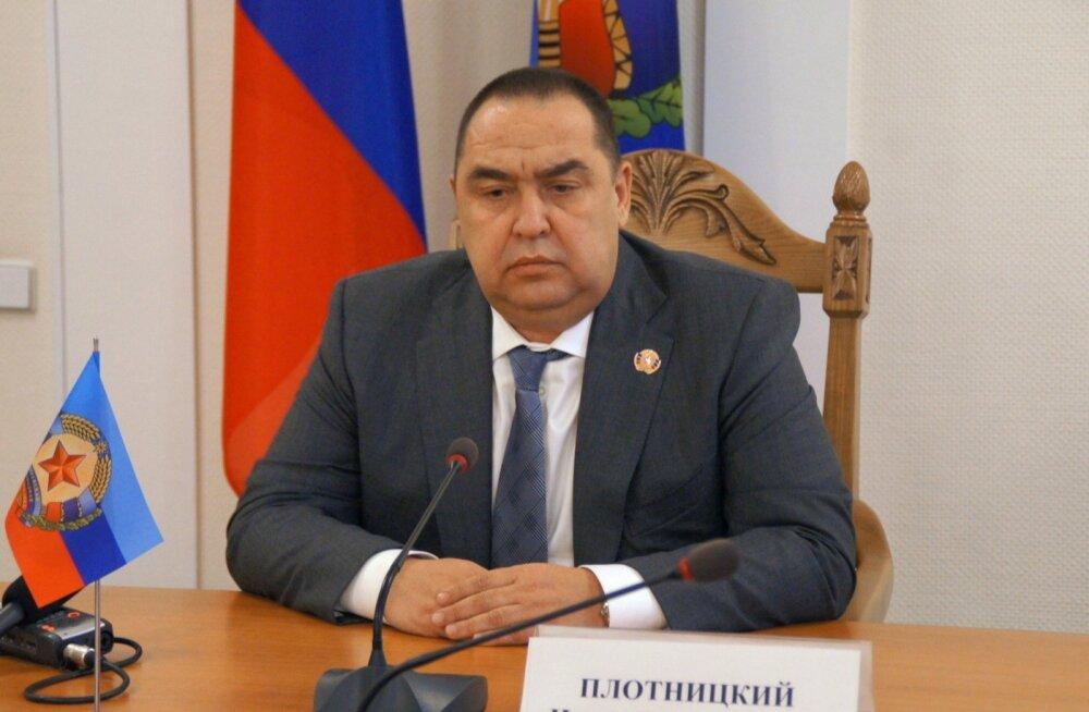 """Novaja Gazeta: """"Luganski rahvavabariigi"""" juht Plotnitski lahkus Venemaa suunas"""