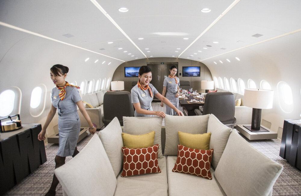Только для богатых: как выглядит борт фешенебельного частного самолета Boeing 787