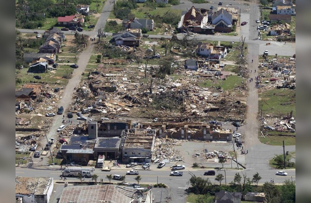USA tornaadoohvrite arv kerkis üle 300