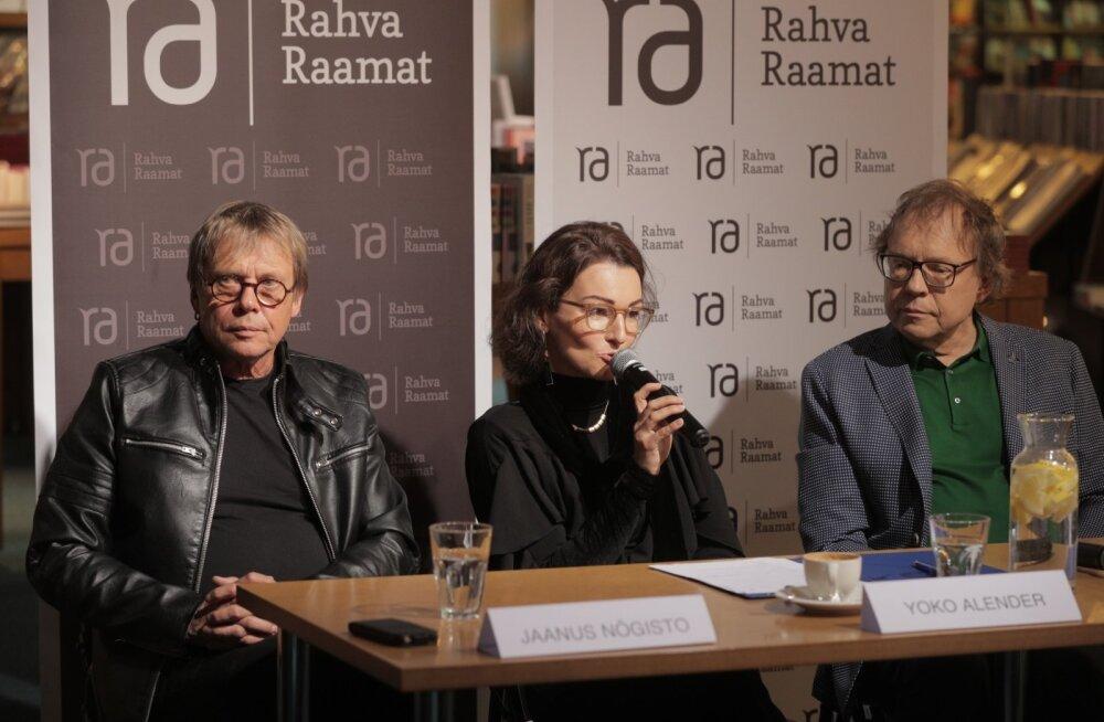 IGAÜKS VAATAB ISE SUUNAS: Vasakult Jaanus Nõgisto, laevahukus surnud<br>solisti Urmas Alenderi tütar Yoko ja Rein Rannap.