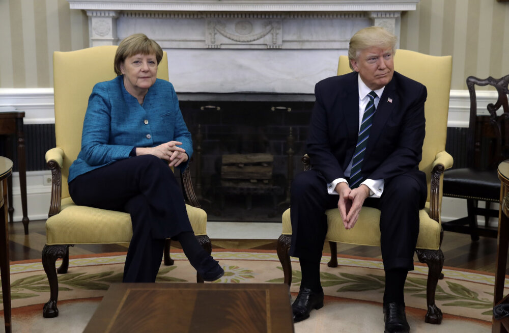 VIDEO: Trump keeldus Merkeli ettepanekust suruda kätt