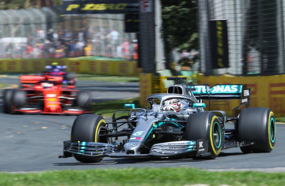 Austraalia GP vabatreeningud: Hamilton kiireim, üks meeskond jääb teistest selgelt maha