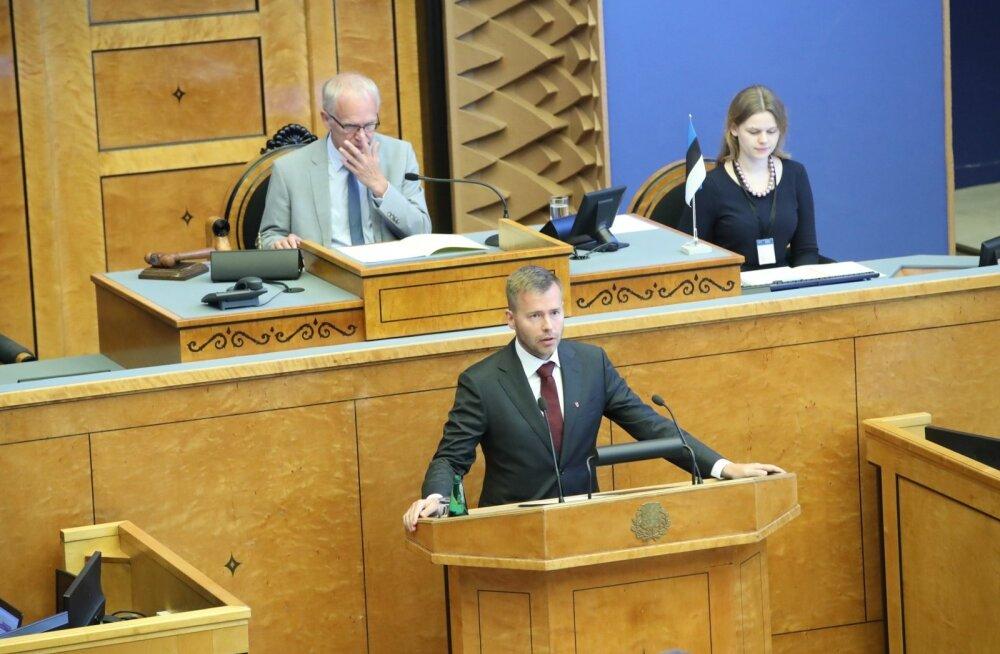 Rene Tammist riigikogus