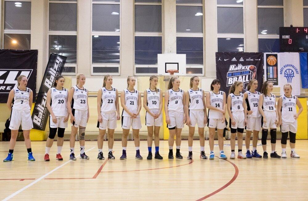 Korvpall Eesti vs Läti U16 tütarlapsed