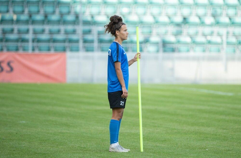 Eesti naiste jalgpallikoondise pressikonverents ja trenn