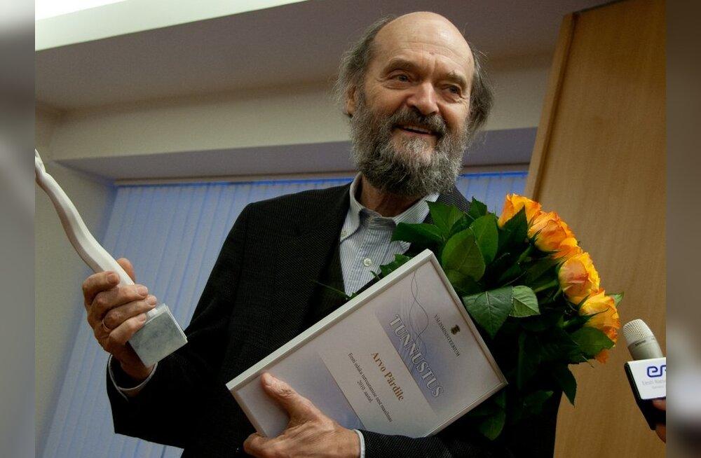 Кандидатом на награждение гербовым знаком Таллинна выдвинут Арво Пярт