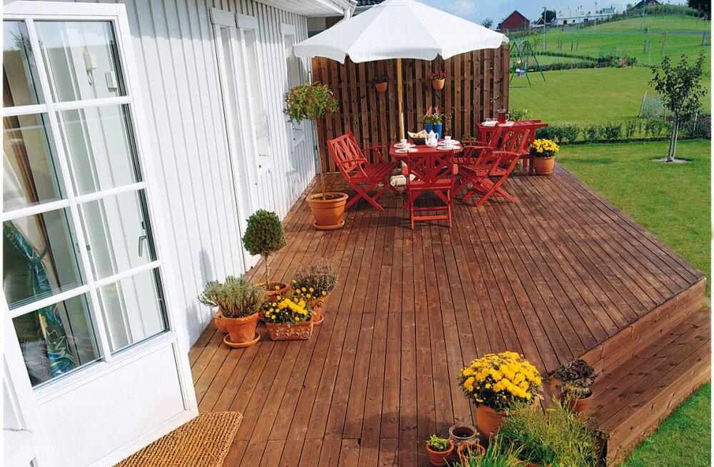 Puidust terrassi õlita igal kevadel – nii kestab see kauem
