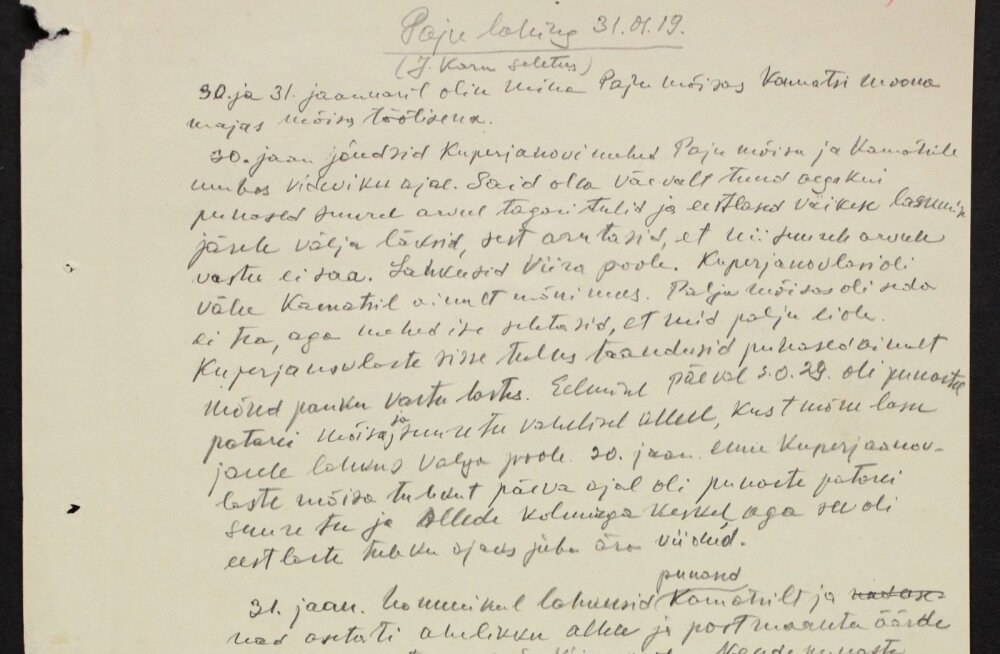 Mõisatöölise mälestus Paju lahingust: mindki taheti maha lasta