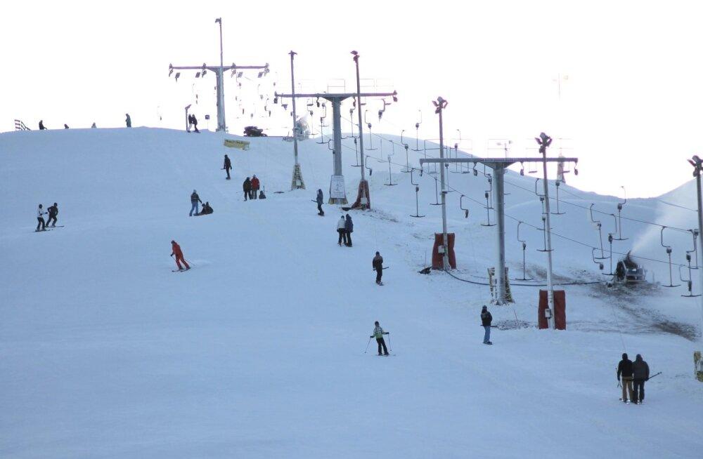 Из-за ажиотажа в приключенческом парке Кивиыли Эвелин Ильвес осталась без лыж