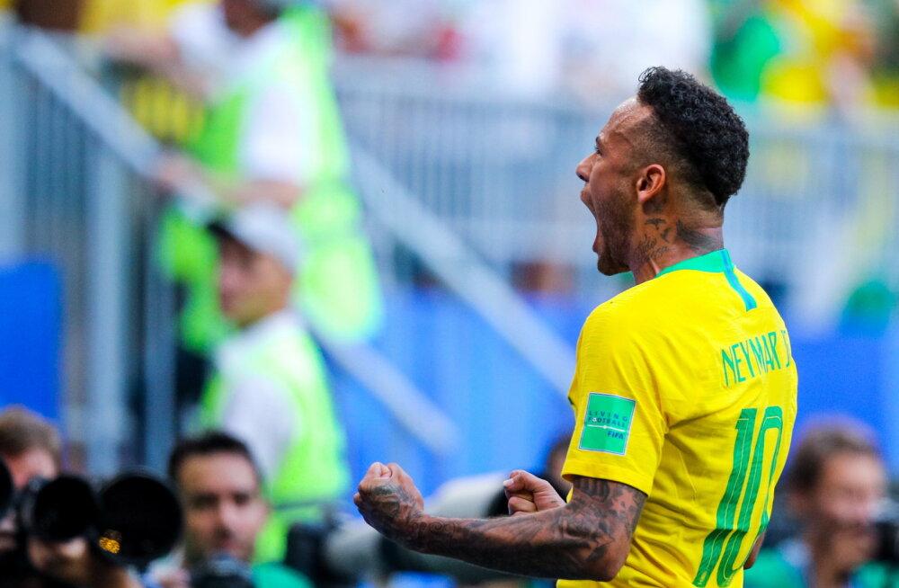 BLOGI | Brasiilia jõudis Neymari ja Firmino väravate abil veerandfinaali